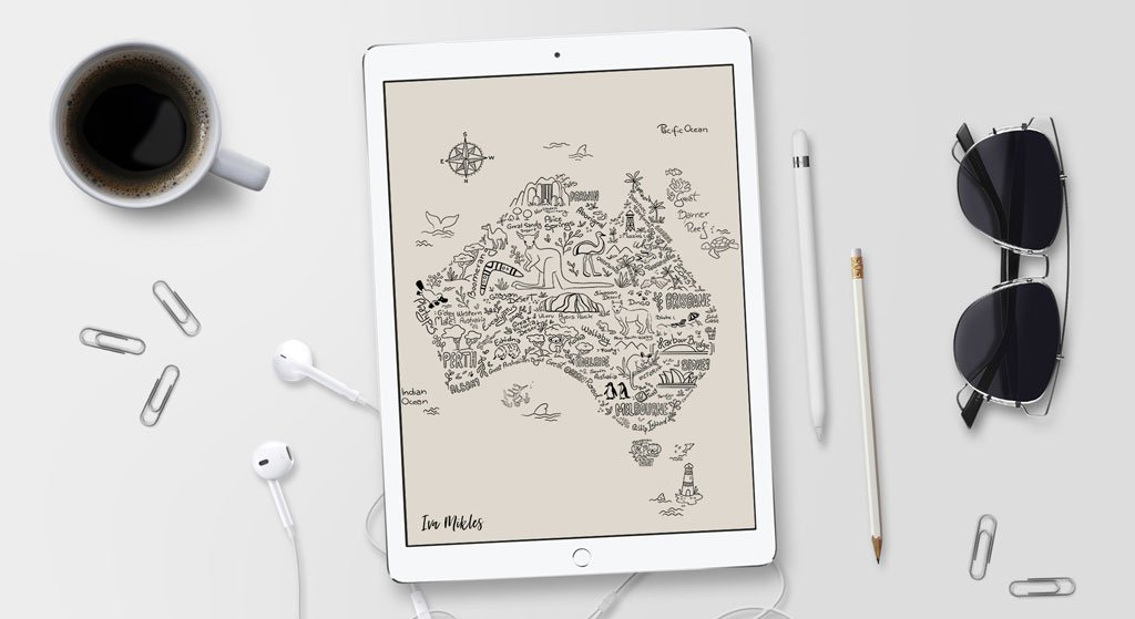 Draw-illustrated-map-tiime-for-your-talents